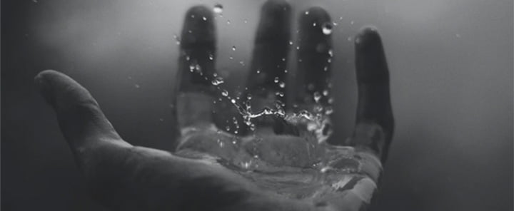 droplets in hand