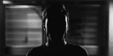 man in darkness